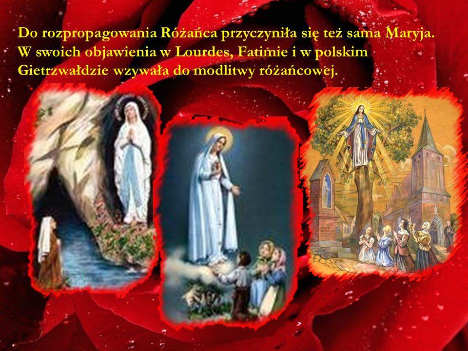 Do rozpropagowania Różańca przyczyniła się też sama Maryja