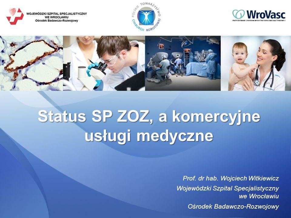 Status SP ZOZ, a komercyjne usługi medyczne