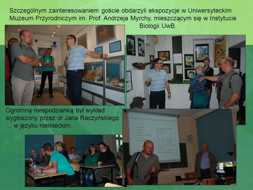 Szczególnym zainteresowaniem goście obdarzyli ekspozycje w Uniwersyteckim