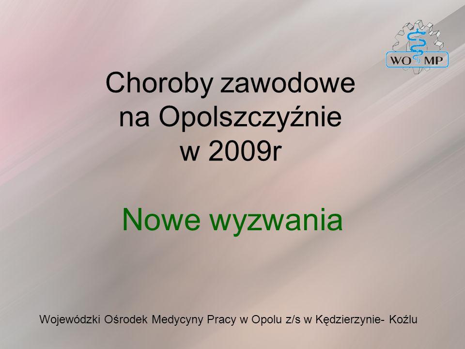 Choroby zawodowe na Opolszczyźnie w 2009r