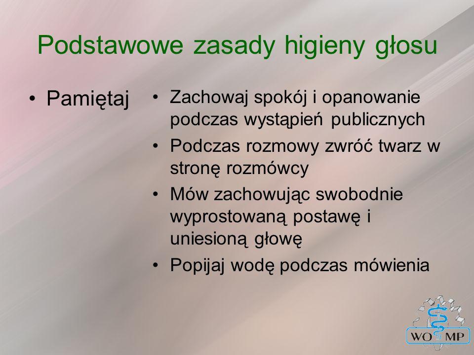 Podstawowe zasady higieny głosu