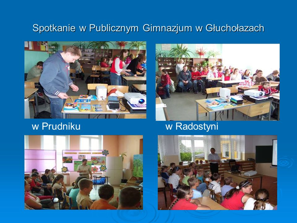 Spotkanie w Publicznym Gimnazjum w Głuchołazach