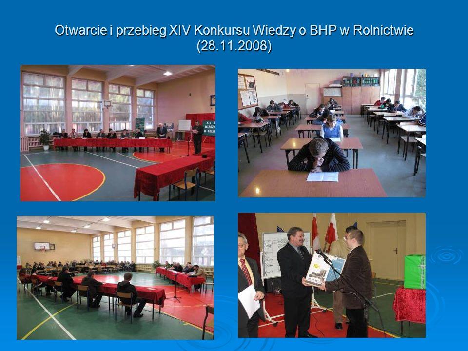 Otwarcie i przebieg XIV Konkursu Wiedzy o BHP w Rolnictwie (28. 11