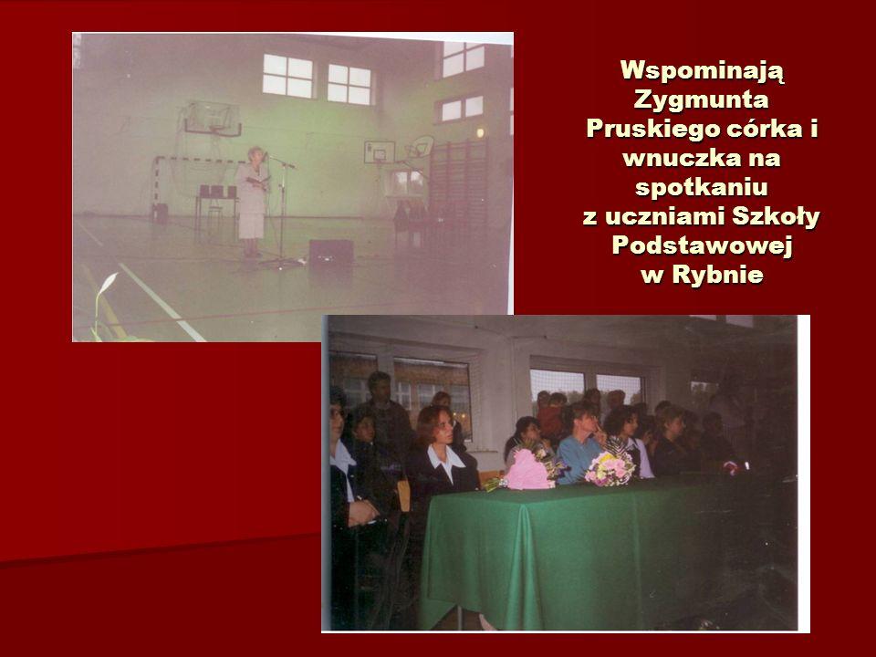 Wspominają Zygmunta Pruskiego córka i wnuczka na spotkaniu z uczniami Szkoły Podstawowej w Rybnie