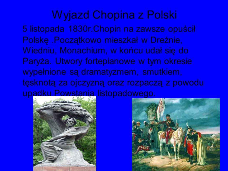 Wyjazd Chopina z Polski