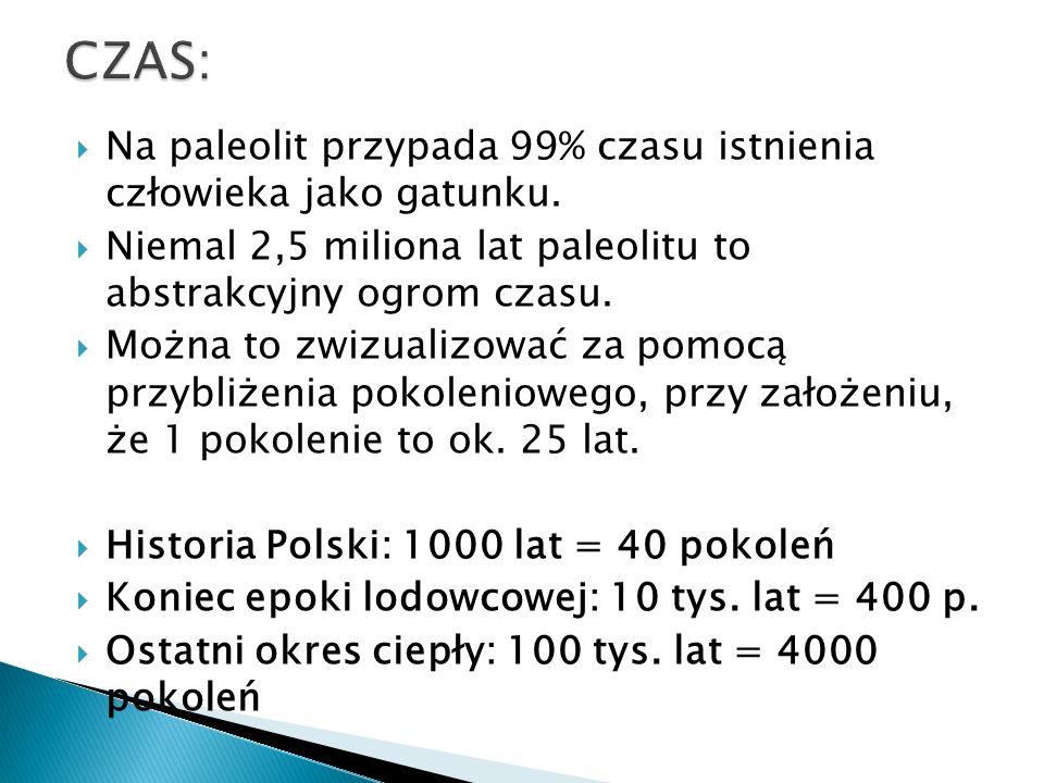 CZAS: Na paleolit przypada 99% czasu istnienia człowieka jako gatunku.