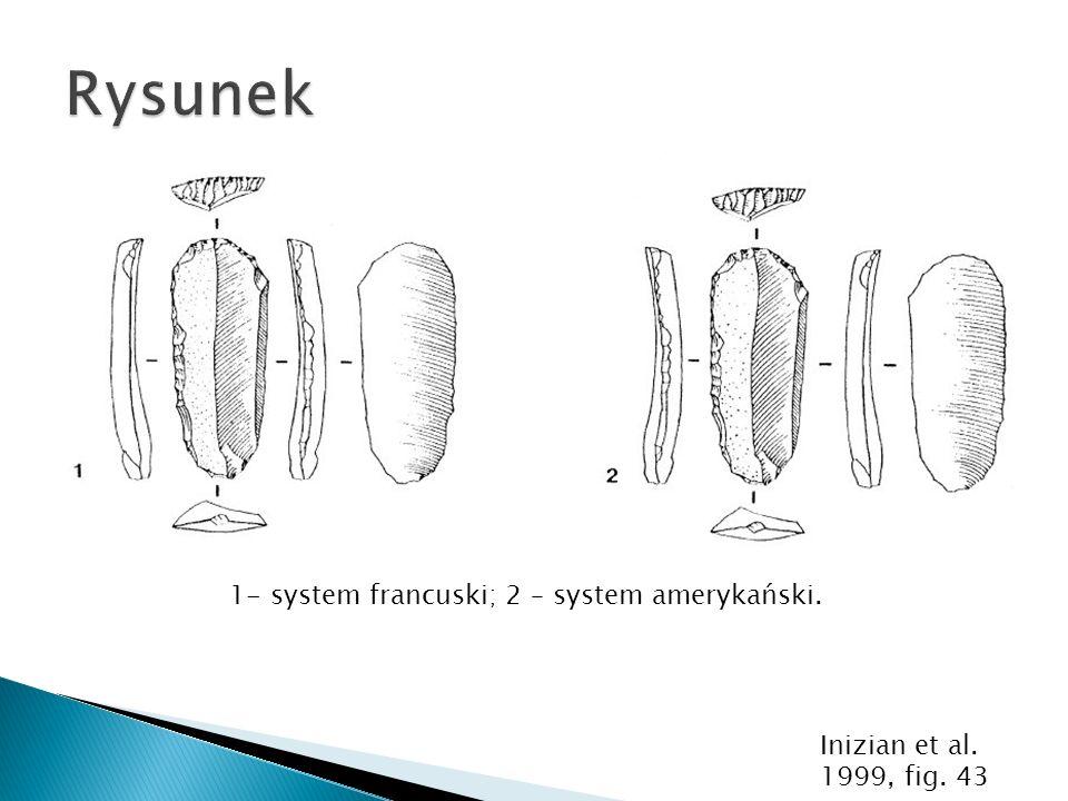 1- system francuski; 2 – system amerykański.