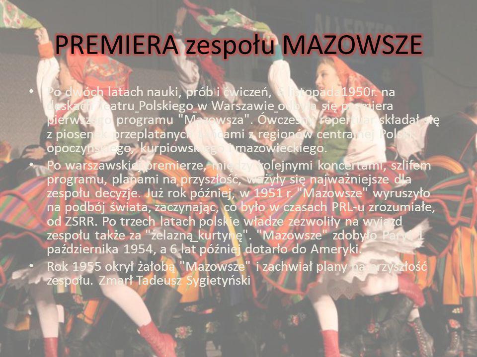 PREMIERA zespołu MAZOWSZE