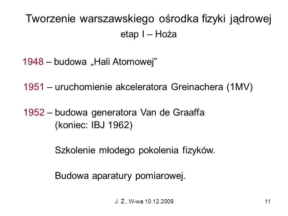 Tworzenie warszawskiego ośrodka fizyki jądrowej