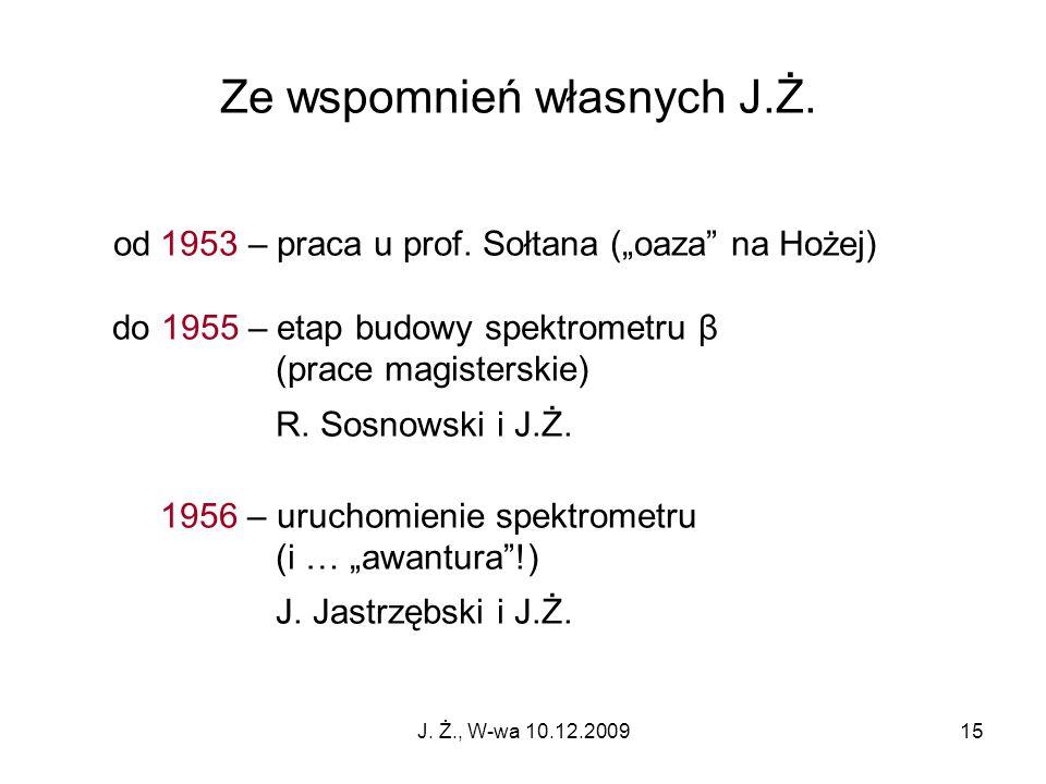 Ze wspomnień własnych J.Ż.