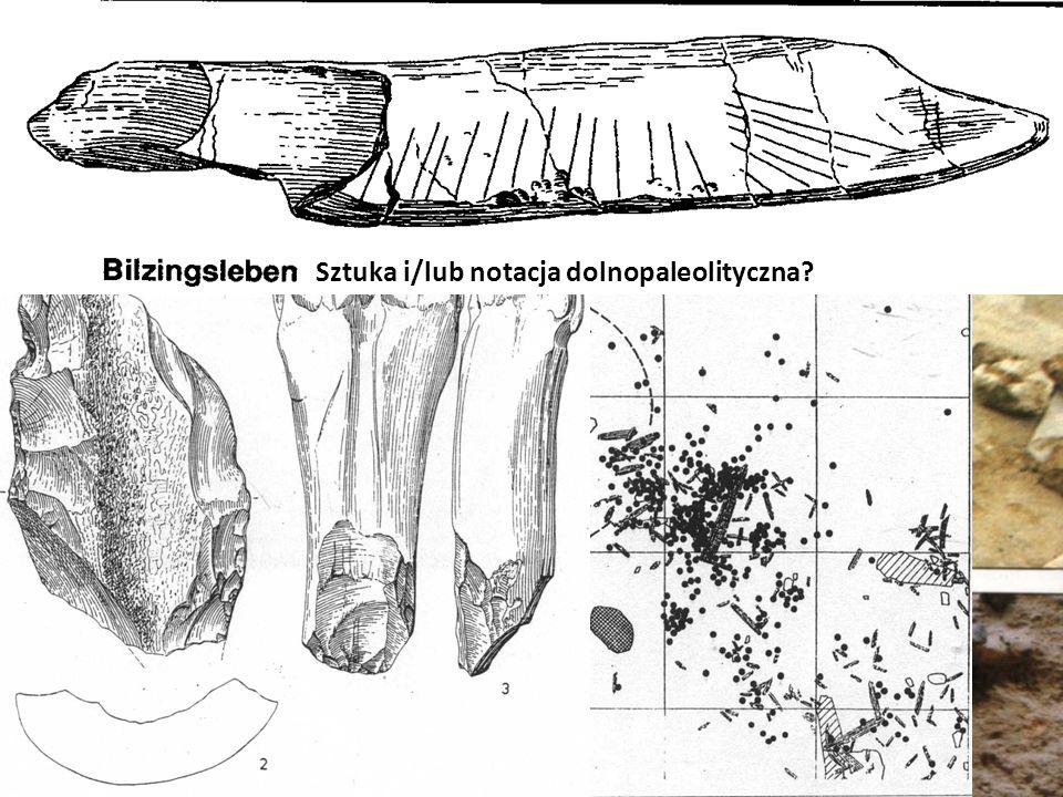 Bilzingsleben Sztuka i/lub notacja dolnopaleolityczna