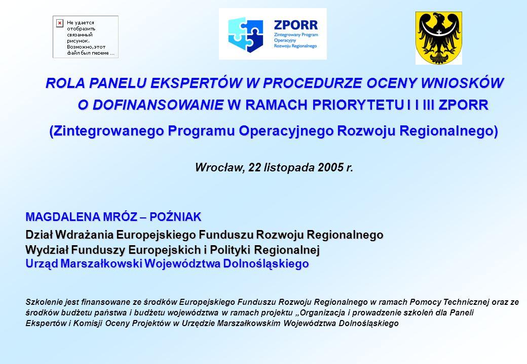 (Zintegrowanego Programu Operacyjnego Rozwoju Regionalnego)