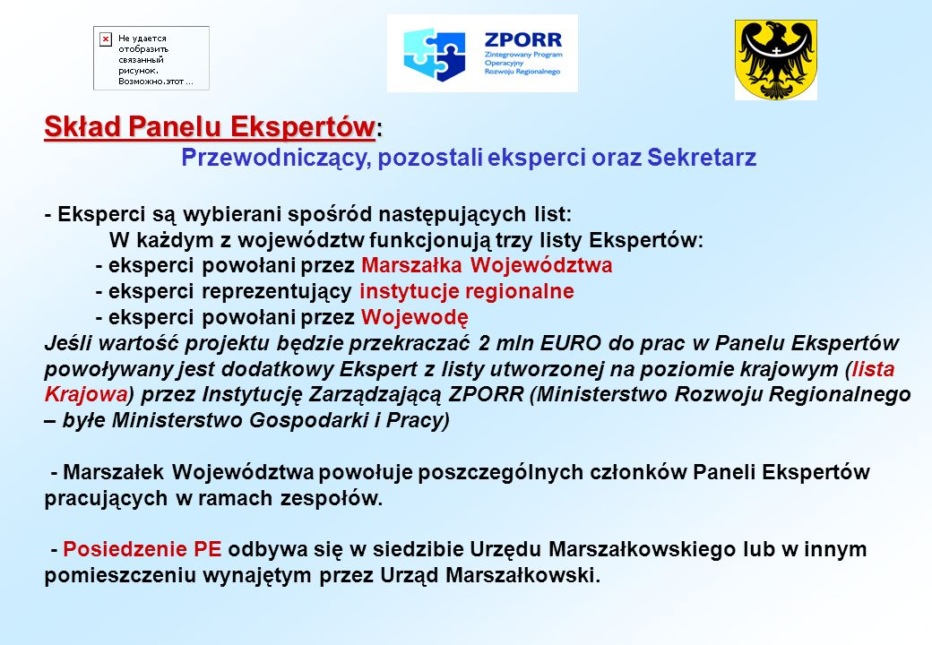 Skład Panelu Ekspertów: