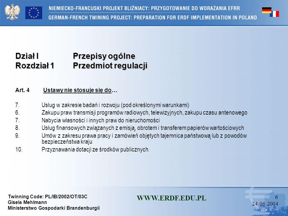Dział I Przepisy ogólne Rozdział 1 Przedmiot regulacji