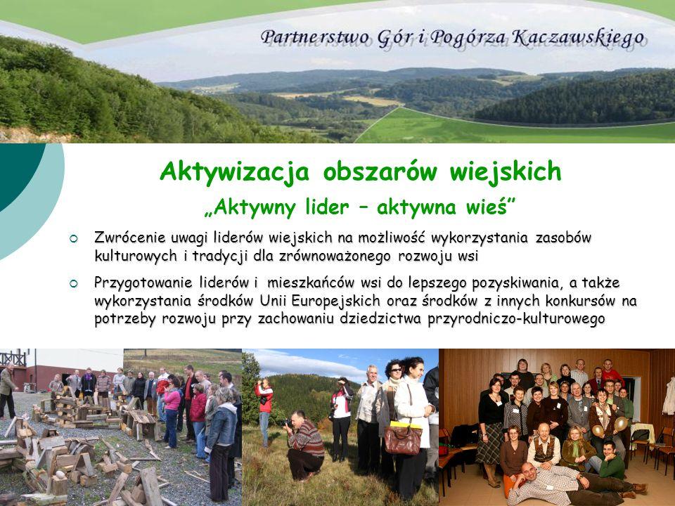 """Aktywizacja obszarów wiejskich """"Aktywny lider – aktywna wieś"""