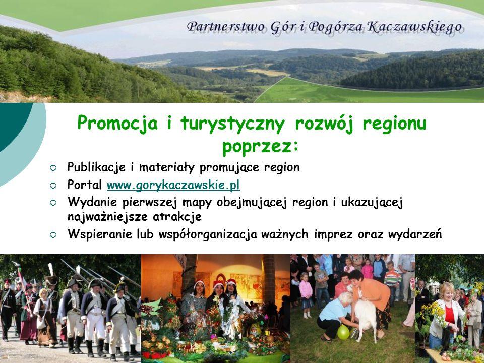 Promocja i turystyczny rozwój regionu poprzez:
