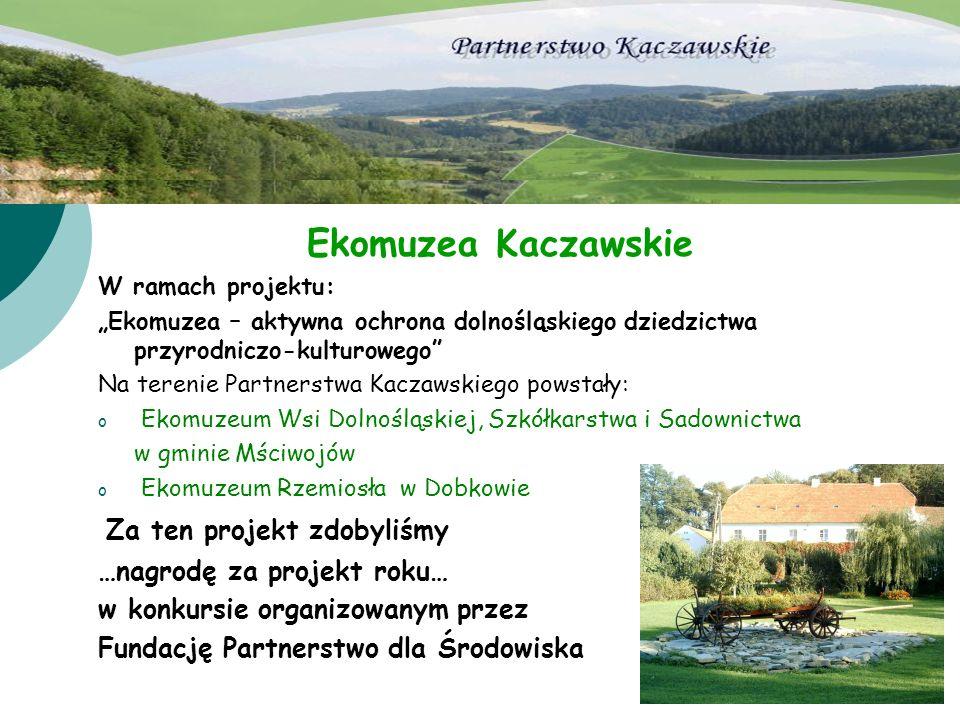 Ekomuzea Kaczawskie Za ten projekt zdobyliśmy
