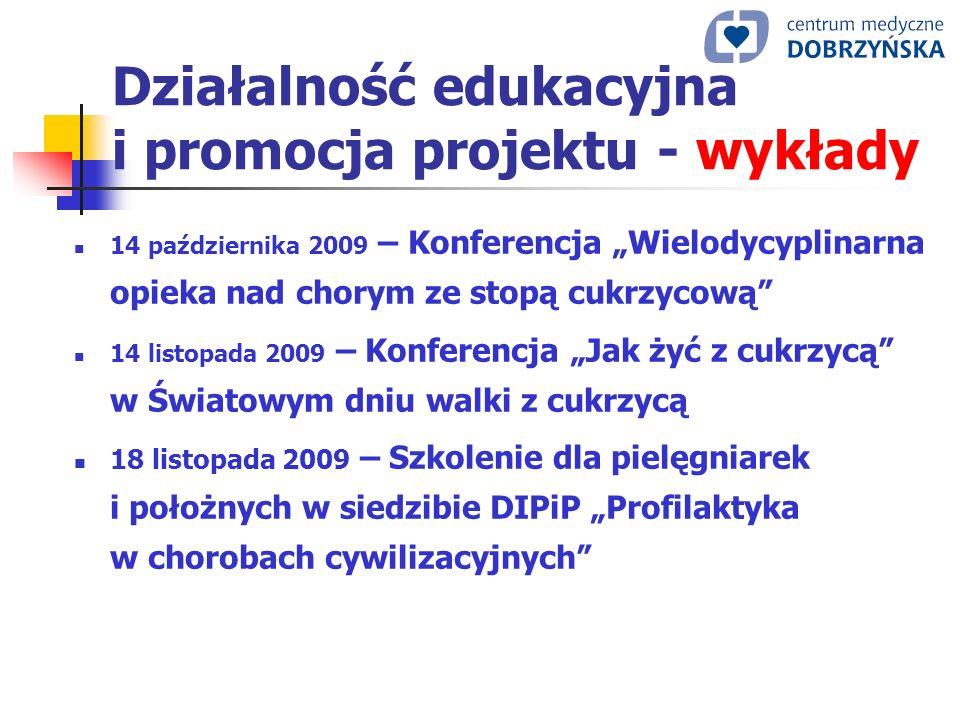 Działalność edukacyjna i promocja projektu - wykłady