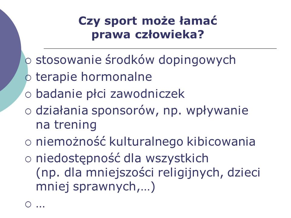 Czy sport może łamać prawa człowieka
