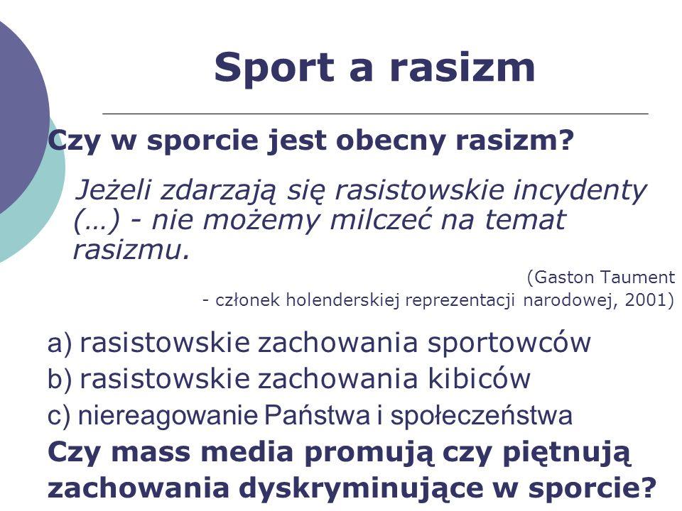 Sport a rasizm Czy w sporcie jest obecny rasizm