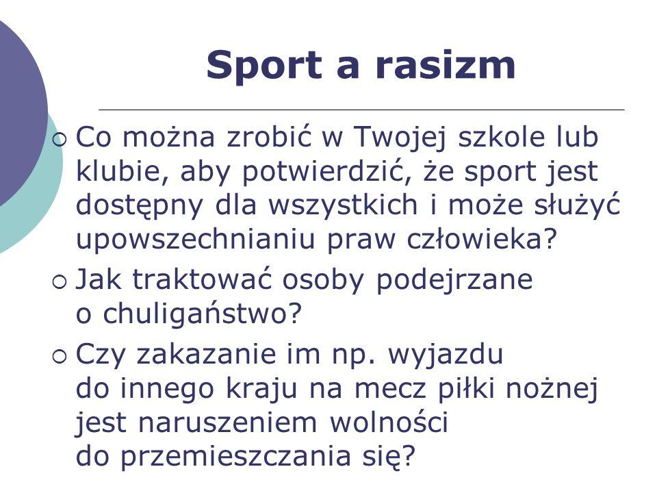 Sport a rasizm