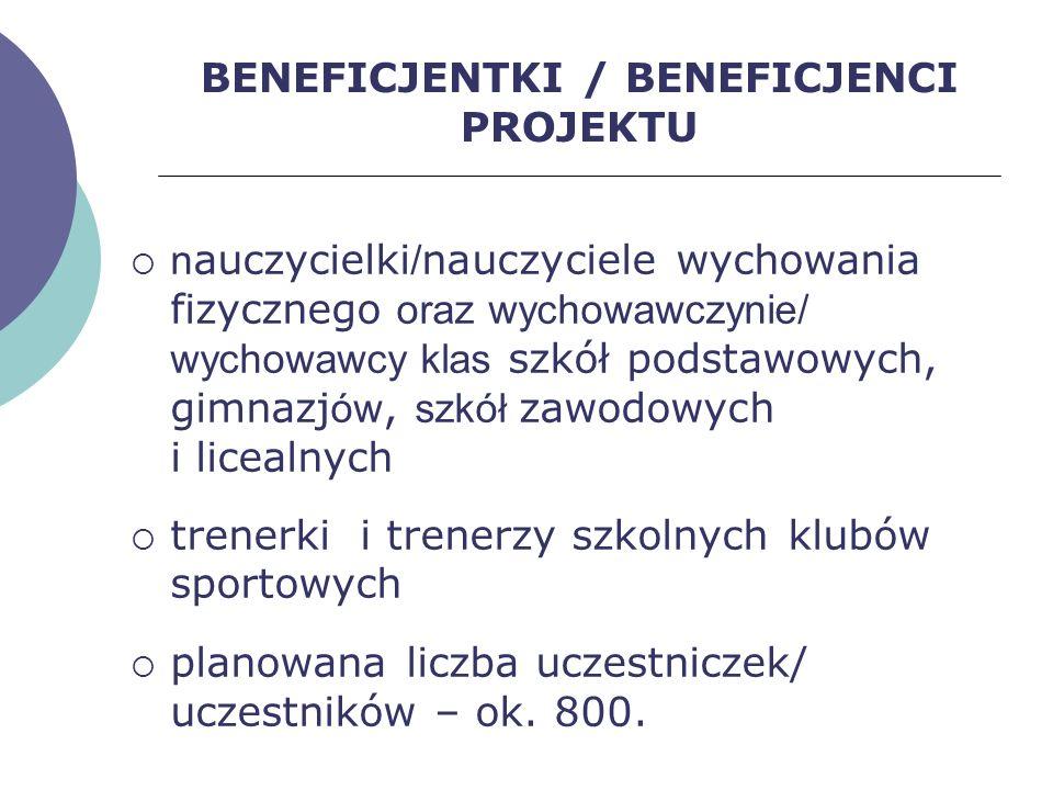 BENEFICJENTKI / BENEFICJENCI PROJEKTU
