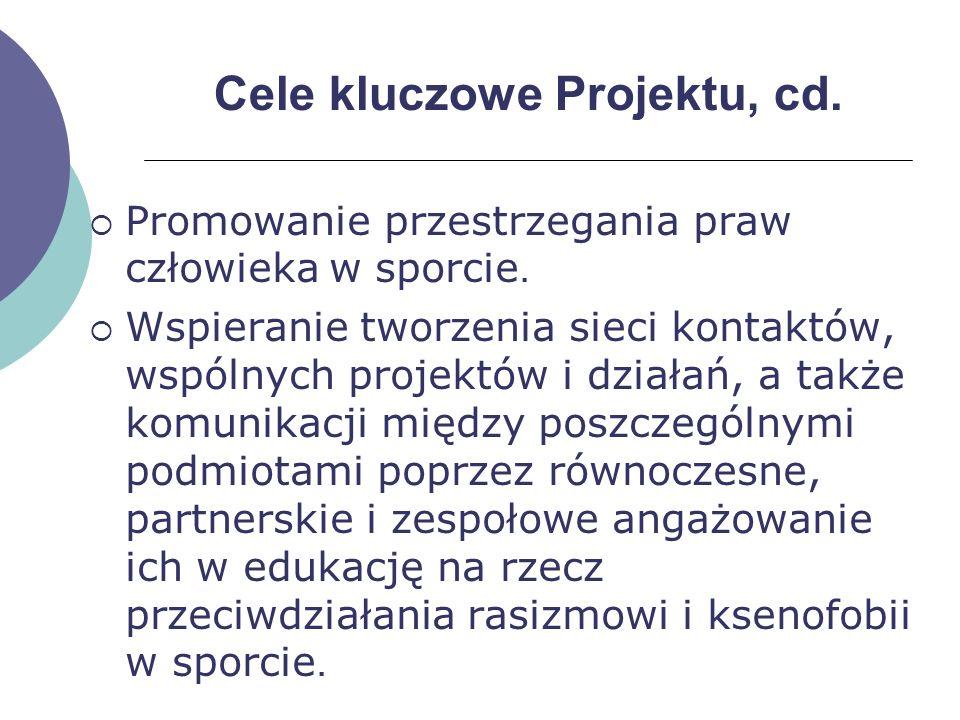 Cele kluczowe Projektu, cd.