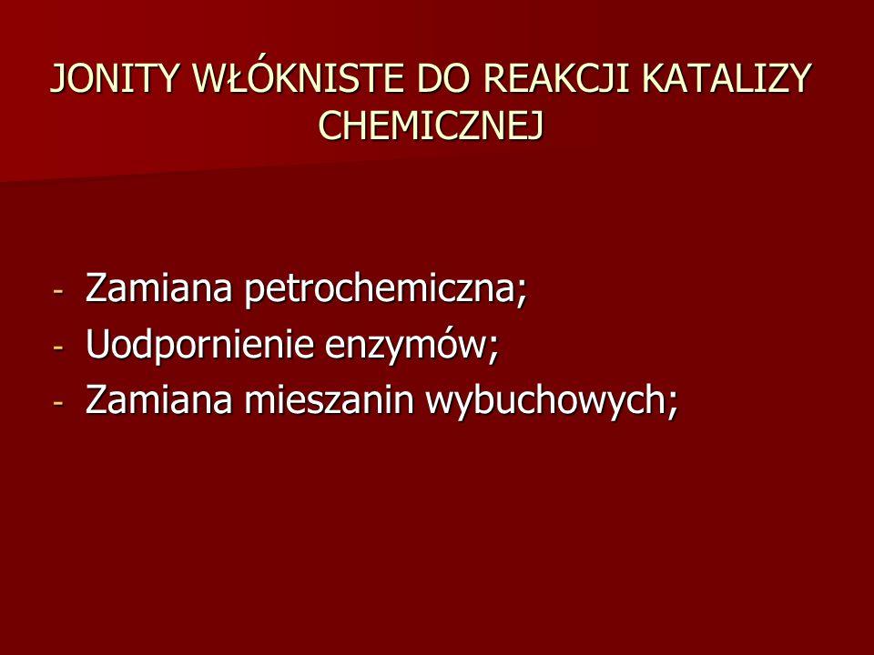 JONITY WŁÓKNISTE DO REAKCJI KATALIZY CHEMICZNEJ