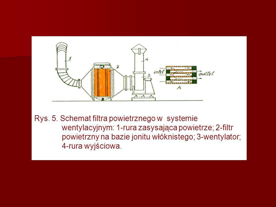 Rys. 5. Schemat filtra powietrznego w systemie