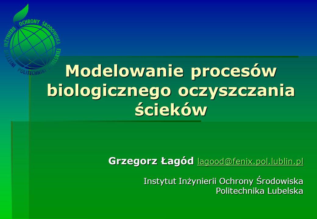 Modelowanie procesów biologicznego oczyszczania ścieków