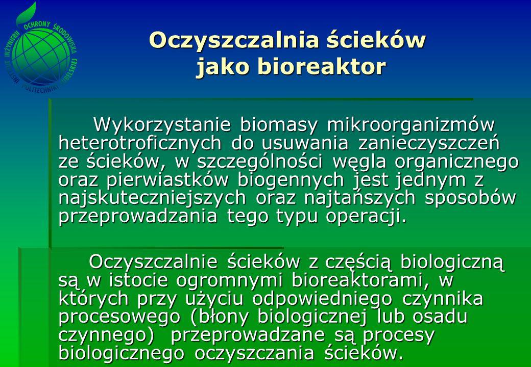 Oczyszczalnia ścieków jako bioreaktor