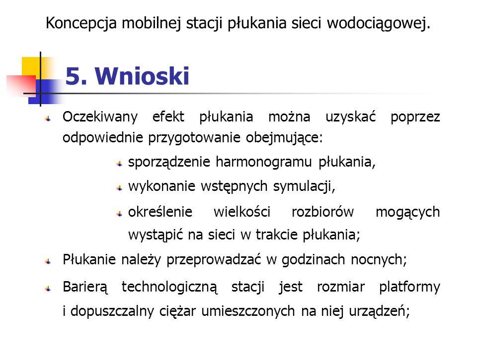 Koncepcja mobilnej stacji płukania sieci wodociągowej.