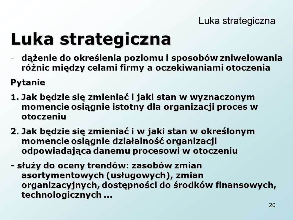 Luka strategiczna Luka strategiczna