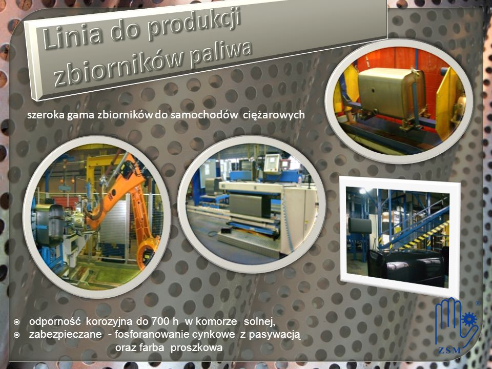Linia do produkcji zbiorników paliwa