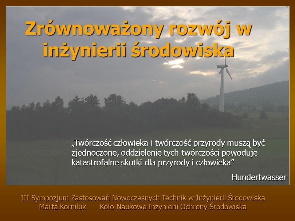 Zrównoważony rozwój w inżynierii środowiska