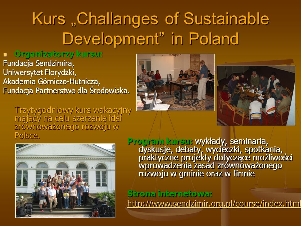 "Kurs ""Challanges of Sustainable Development in Poland"