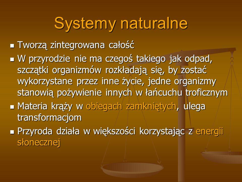 Systemy naturalne Tworzą zintegrowana całość
