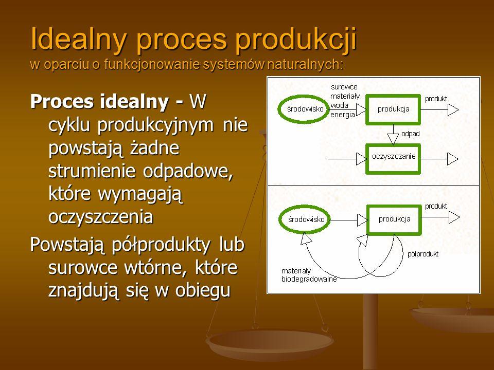 Idealny proces produkcji w oparciu o funkcjonowanie systemów naturalnych: