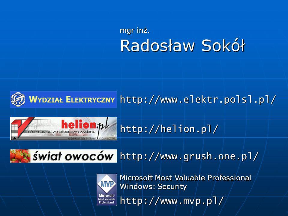 Radosław Sokół http://www.elektr.polsl.pl/ http://helion.pl/