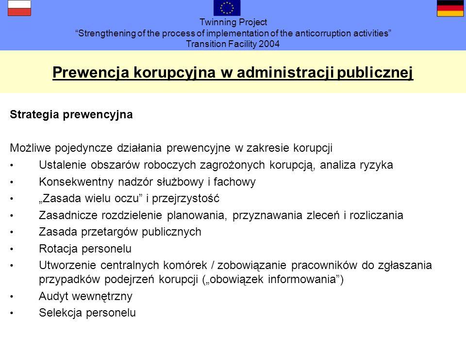 Prewencja korupcyjna w administracji publicznej