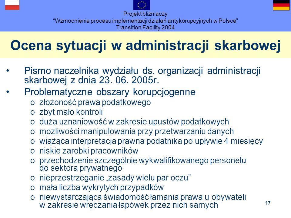 Ocena sytuacji w administracji skarbowej