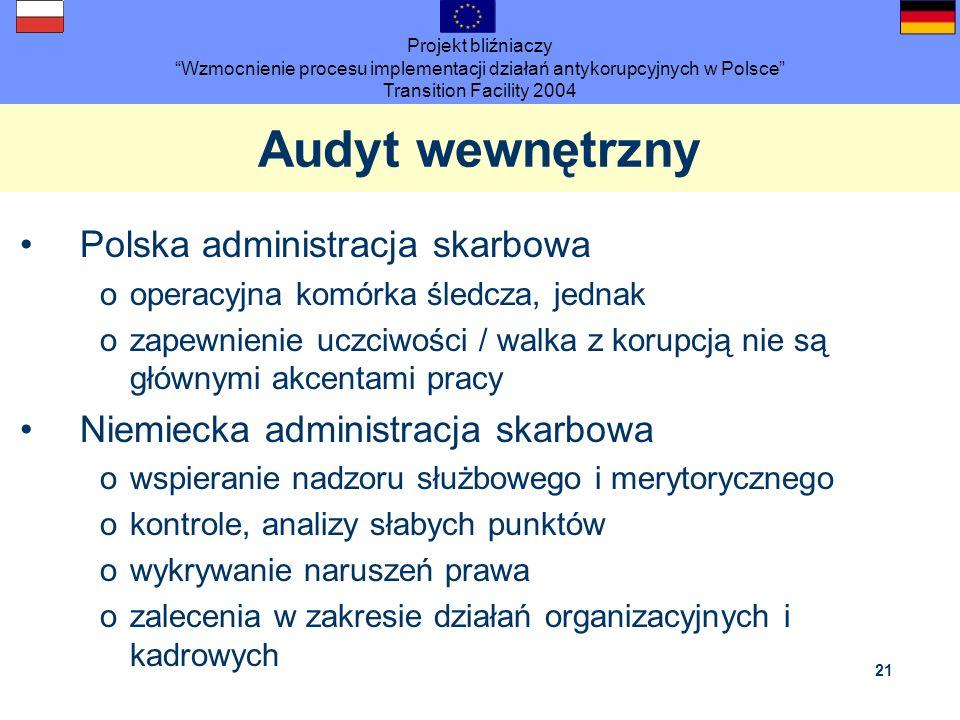 Audyt wewnętrzny Polska administracja skarbowa