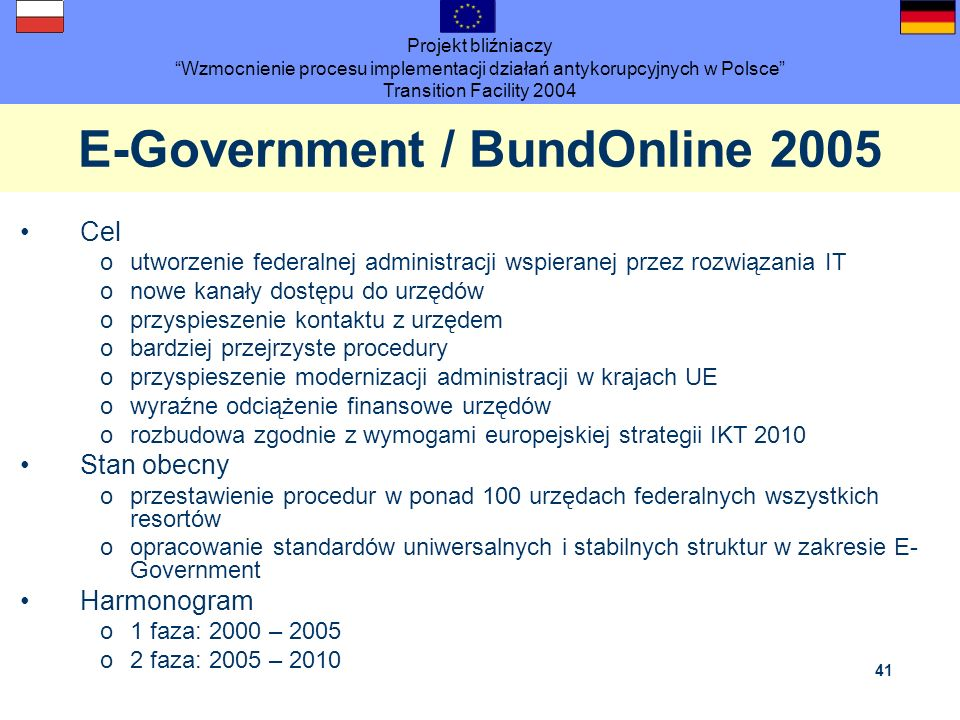 E-Government / BundOnline 2005
