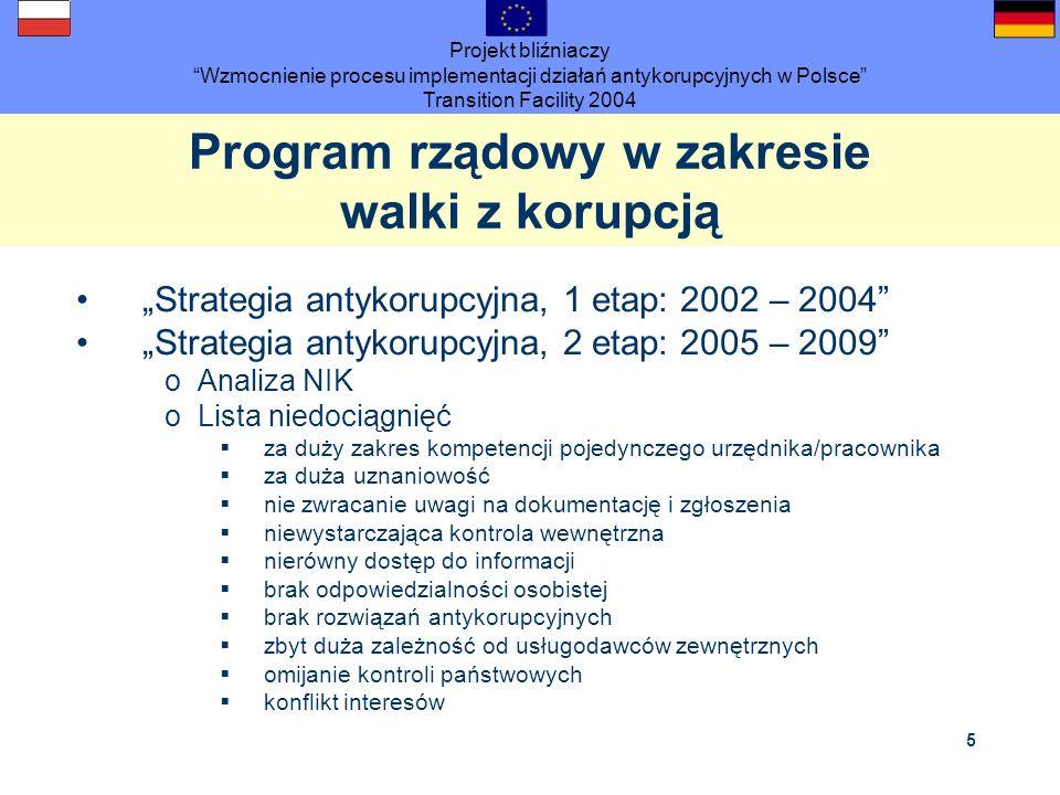 Program rządowy w zakresie walki z korupcją