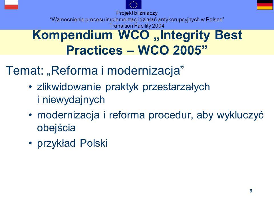 "Kompendium WCO ""Integrity Best Practices – WCO 2005"