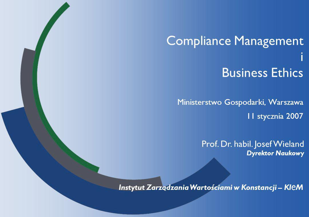 Compliance Management i Business Ethics