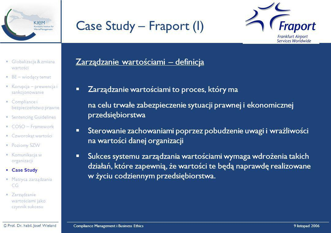 Case Study – Fraport (I)