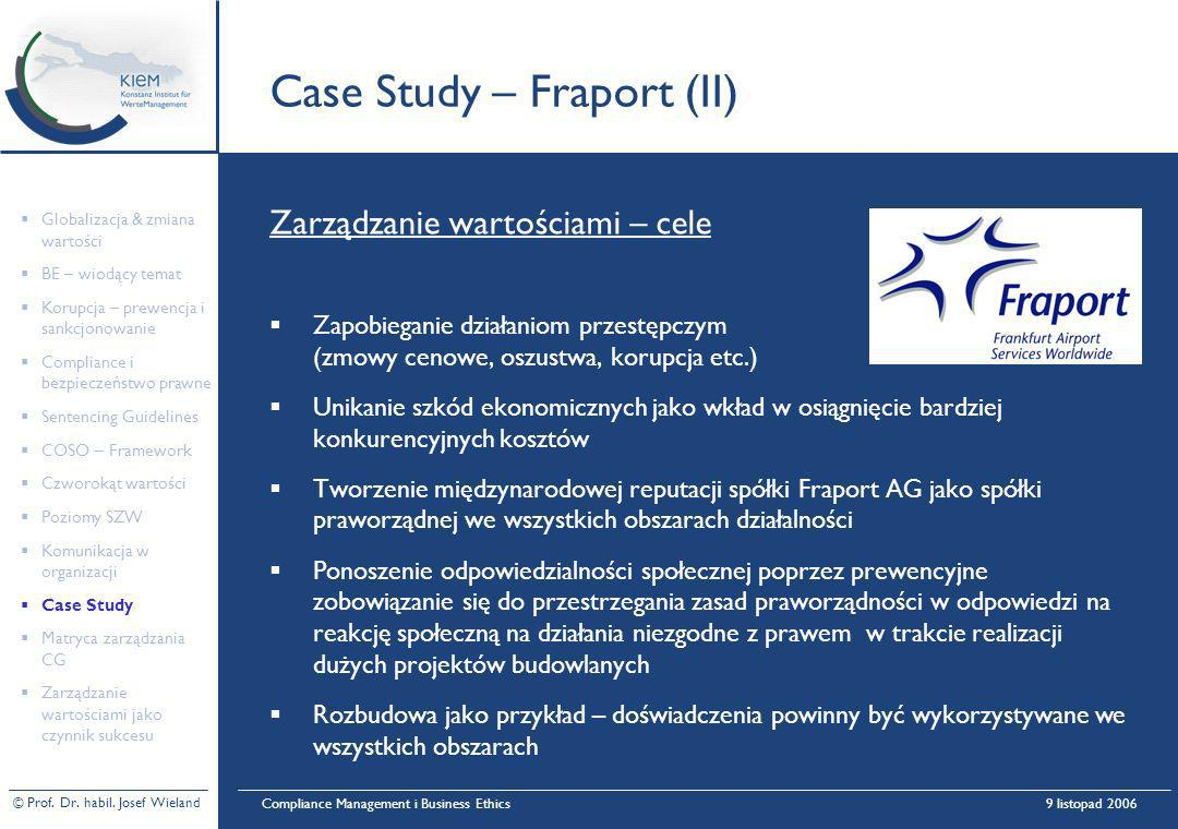 Case Study – Fraport (II)