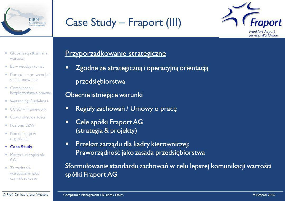 Case Study – Fraport (III)