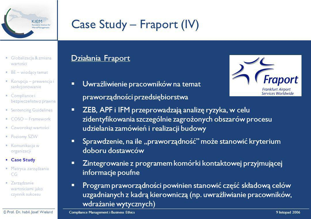 Case Study – Fraport (IV)